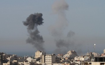 The Gaza Strip: Israeli Warplanes Raids Open Areas and Training Sites in the Gaza Strip.