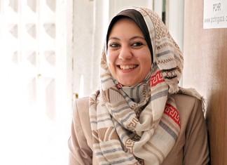 Ayah al-Wakil, a lawyer working at the Palestinian Centre for Human Rights in Gaza Strip. Photo: UN Women/Eunjin Jeong