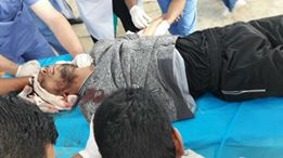 Civilian Wounded in Eastern Rafah
