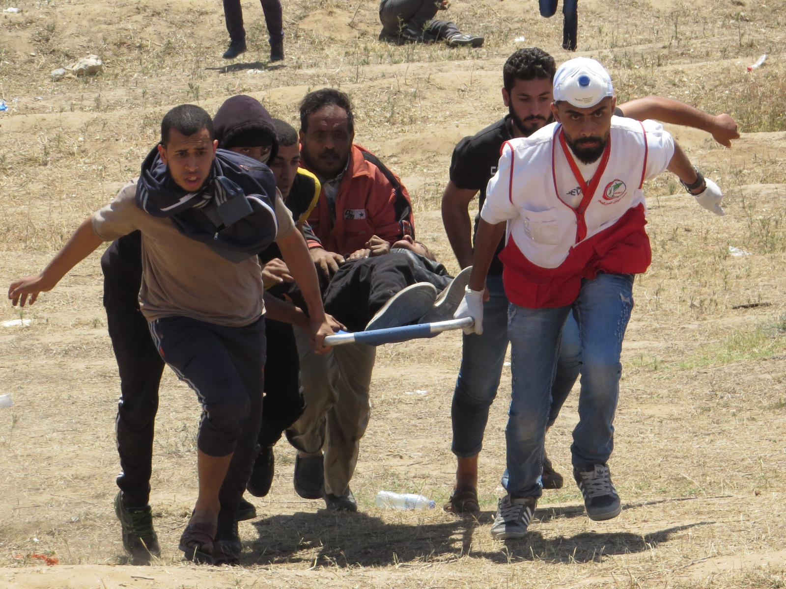 Civilian Wounded near the border fence in Central Gaza Strip