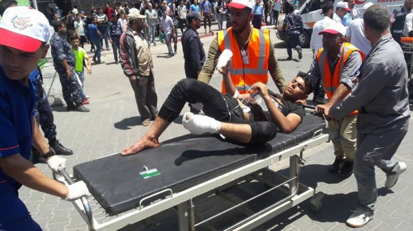 Civilian Wounded near the border fence in Eastern Gaza Strip