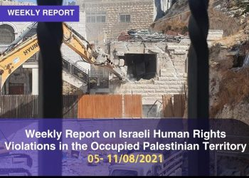 Weekly Report on Israeli Human Rights Violations in the Occupied Palestinian Territory 5 – 11 August 2021